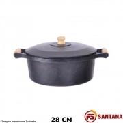 Caçarola Ferro c/ Tampa 28 cm - Fundição Santana