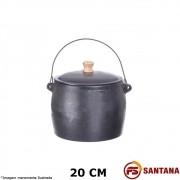 Caldeirão Ferro c/ Tampa 20 cm  - Fundição Santana