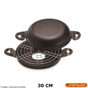 Churrasqueira Antiaderente Black 30 cm - Fortaleza