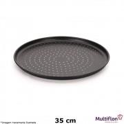 Forma para Pizza Antiaderente 35 cm Furada - Multiflon