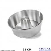 Forma Pudim Alumínio Polido 22 cm