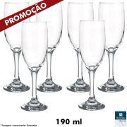Jogo com 06 Taças Champagne 190 ml - Hercules Vetro