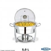 Rechaud Redondo Inox Savoy 5 Litros - Brinox
