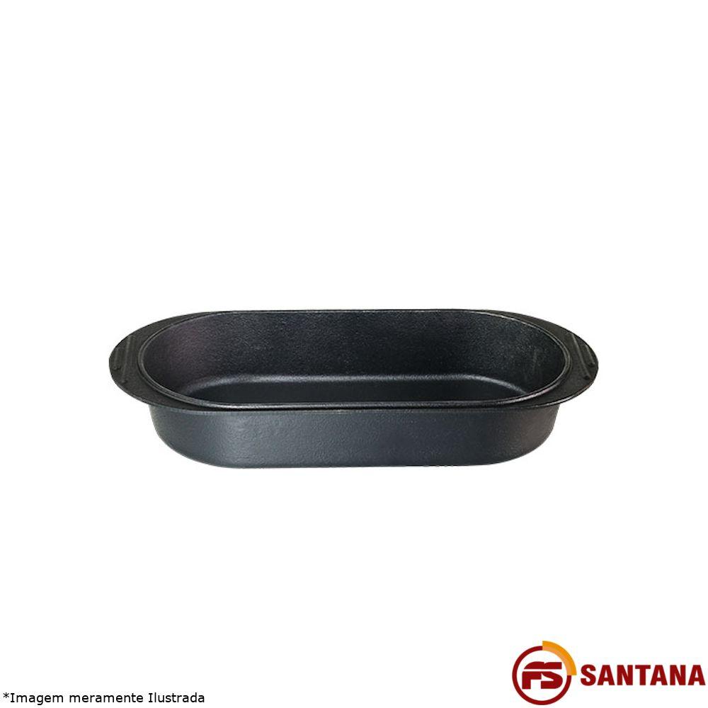Assadeira Oval Ferro Fundido 42 X 20 X 7 - Fundição Santana