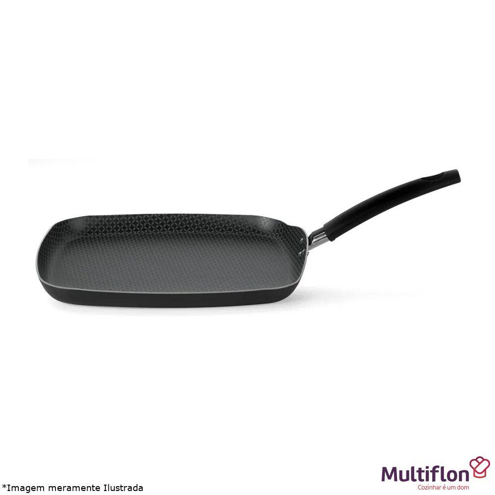 Bistequeira Quadrada Antiaderente Gourmet - Multiflon