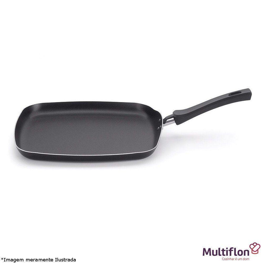 Bistequeira Quadrada Teflon - Multiflon