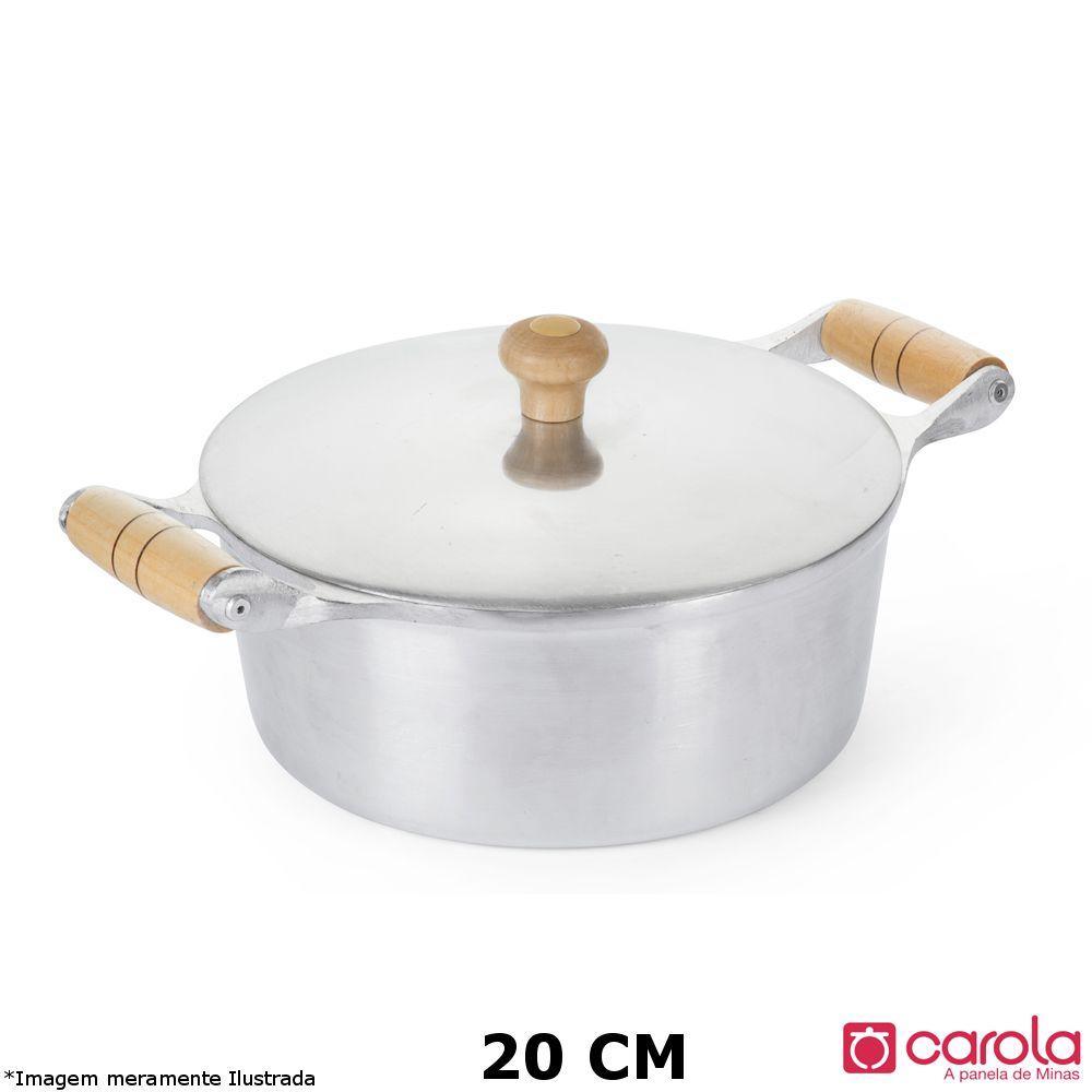 Caçarola Alumínio Fundido 20 cm - Metalúrgica Carola