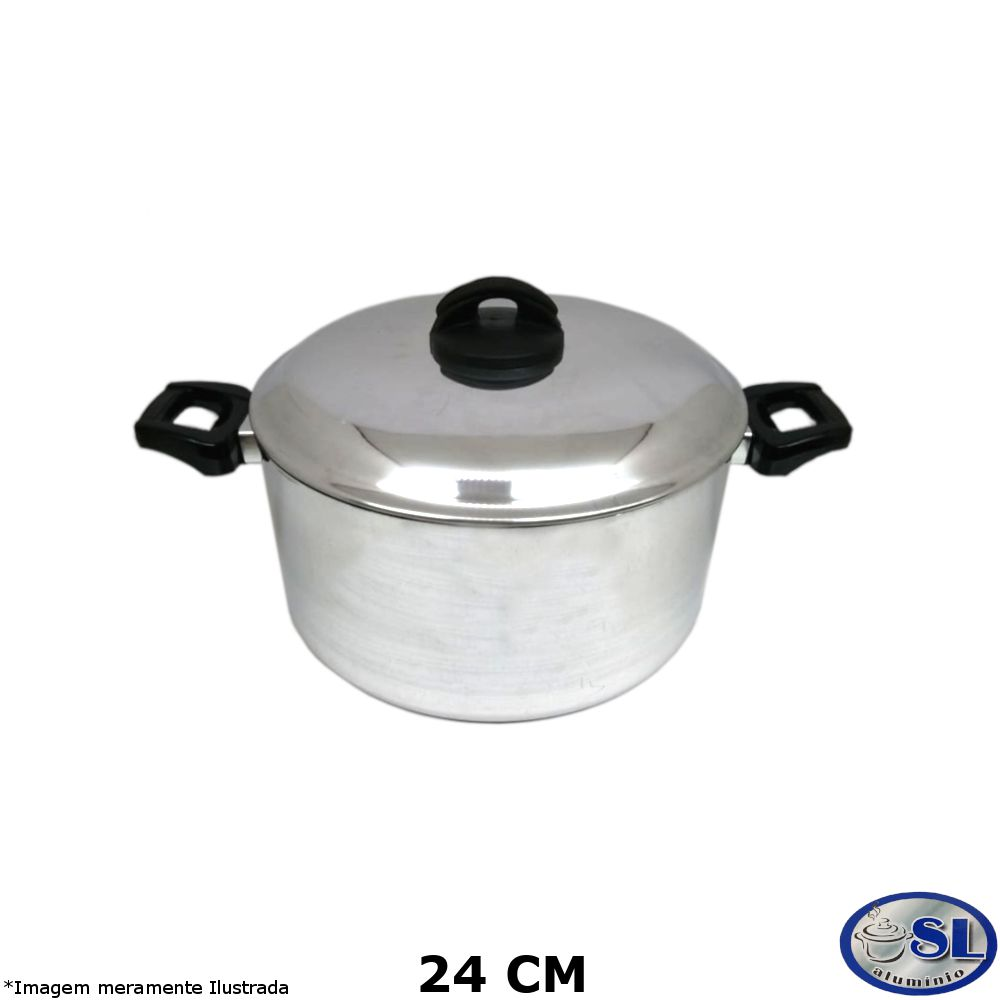 Caçarola Alumínio Polido 24 cm