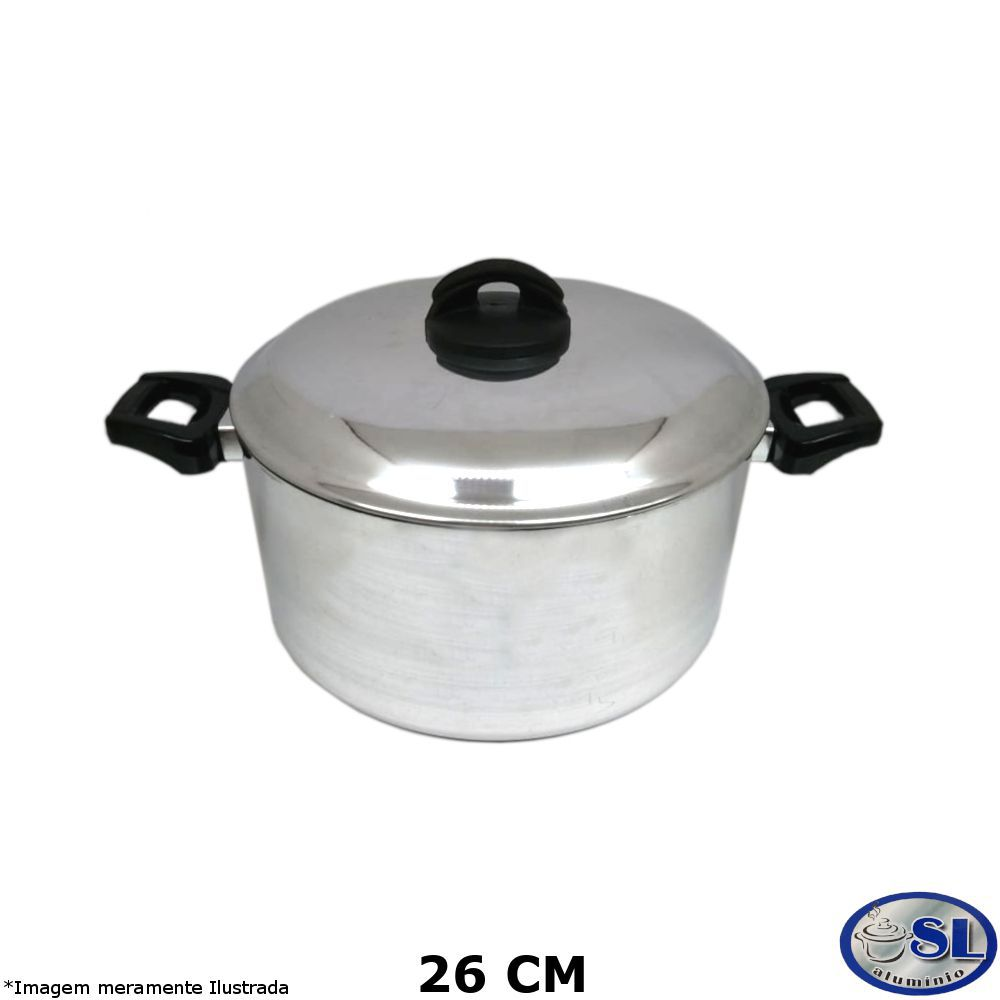 Caçarola Alumínio Polido 26 cm