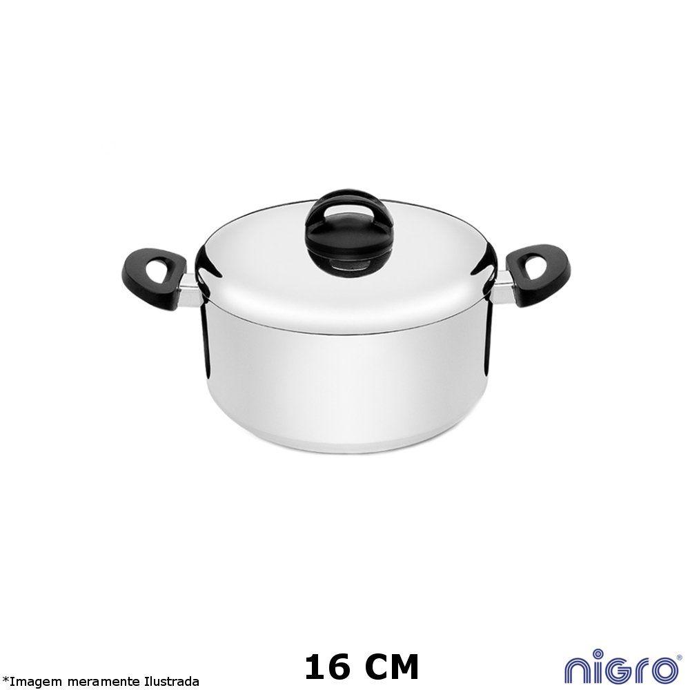 Caçarola Alumínio Polido Eterna 16 cm - Nigro