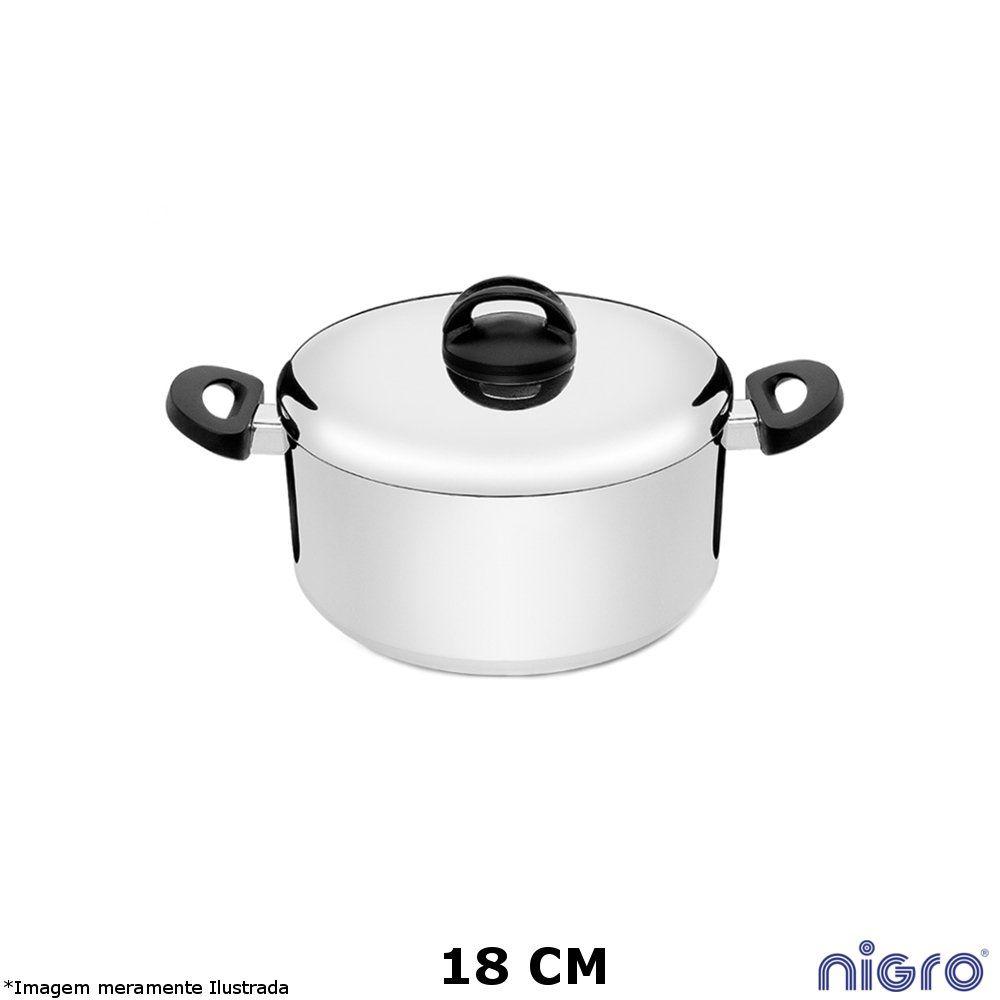 Caçarola Alumínio Polido Eterna 18 cm - Nigro