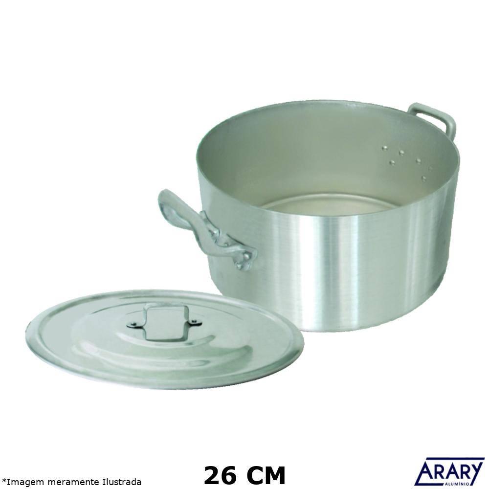 Caçarola Alumínio Profissional Hotel Plus 26 cm 6,8 Litros - Arary