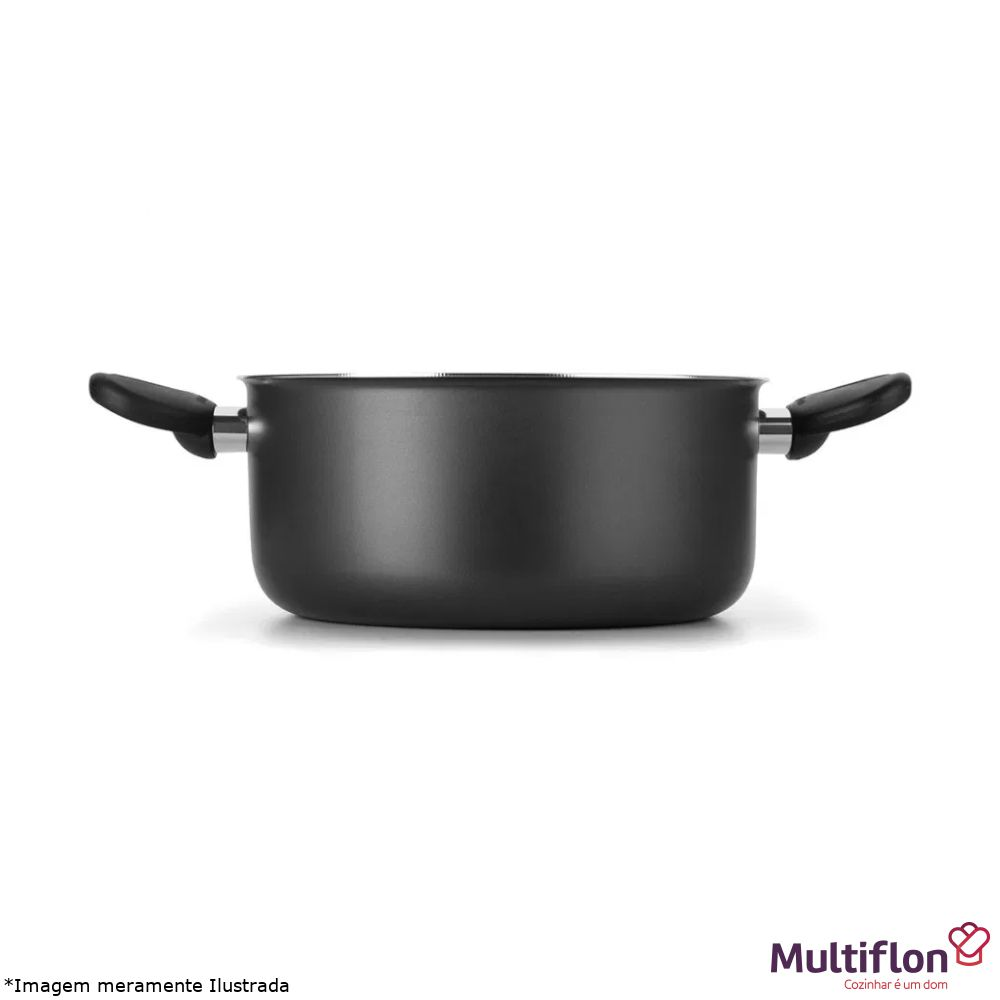 Caçarola Antiaderente Gourmet 24 cm Tampa de Vidro - Multiflon