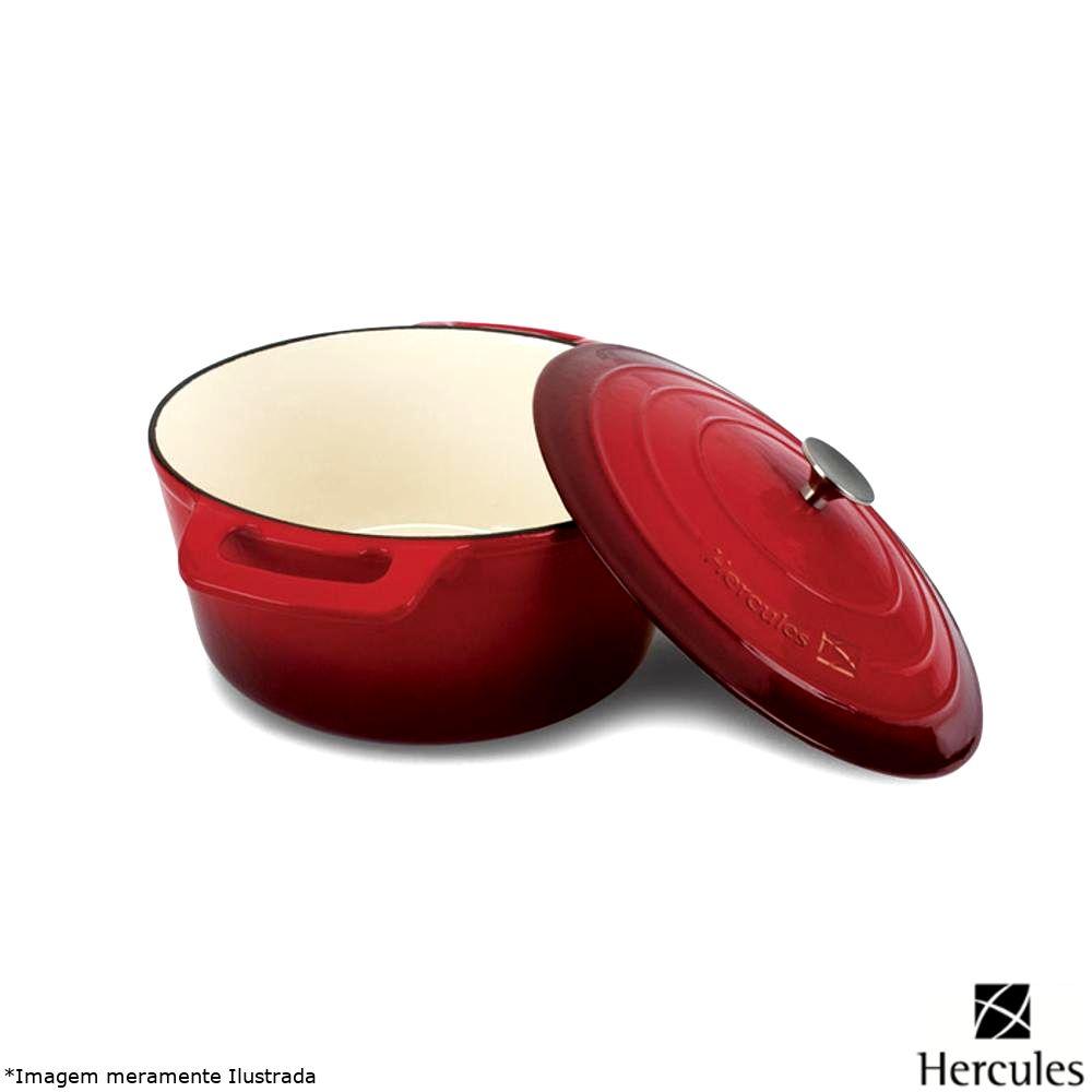 Caçarola Ferro Fundido Esmaltada 28 cm Vermelha - Hercules