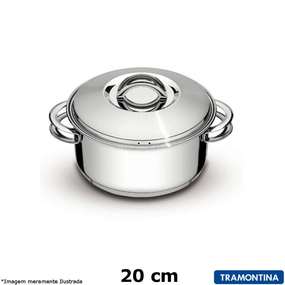 Caçarola Inox 20 cm Solar - Tramontina