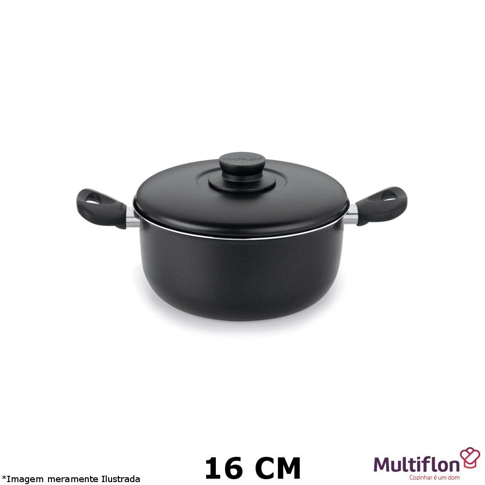 Caçarola Antiaderente Gourmet 16 cm - Multiflon