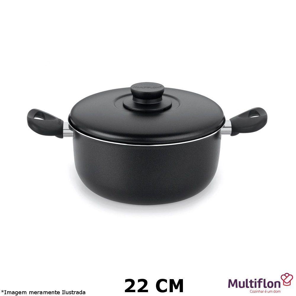 Caçarola Teflon Gourmet Vapore 22 cm - Multiflon