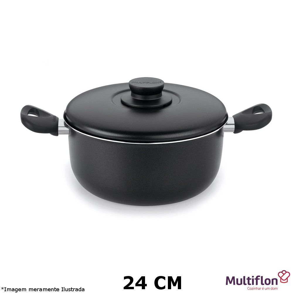 Caçarola Teflon Gourmet Vapore 24 cm - Multiflon