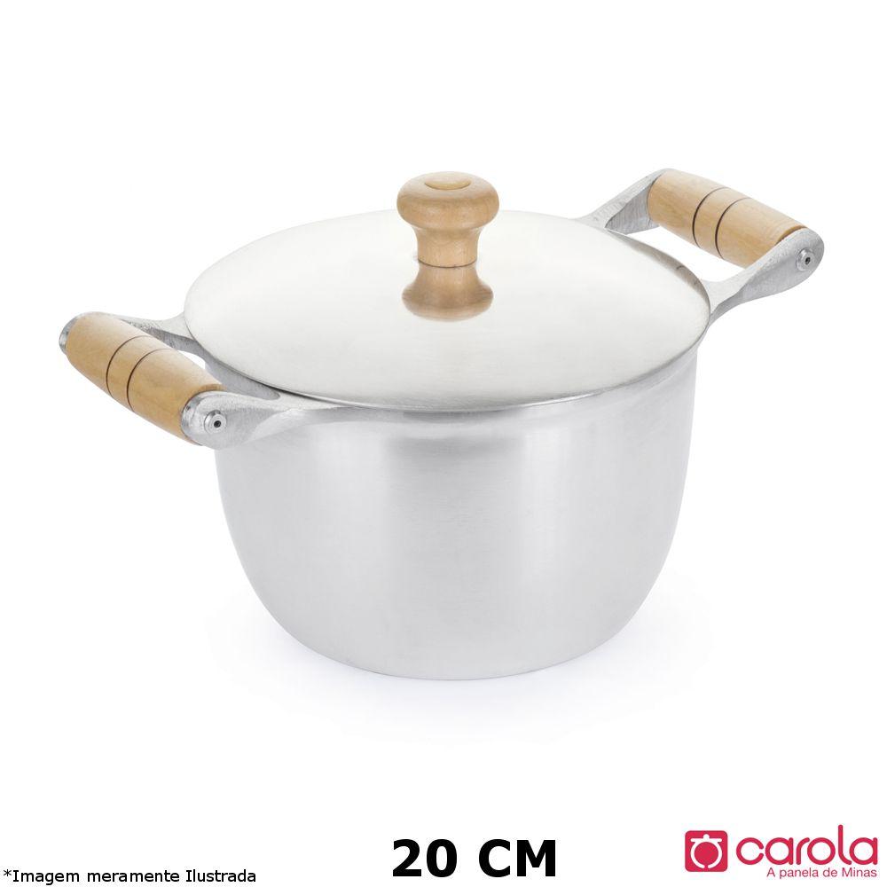 Caldeirão Alumínio Fundido 20 cm - Metalúrgica Carola