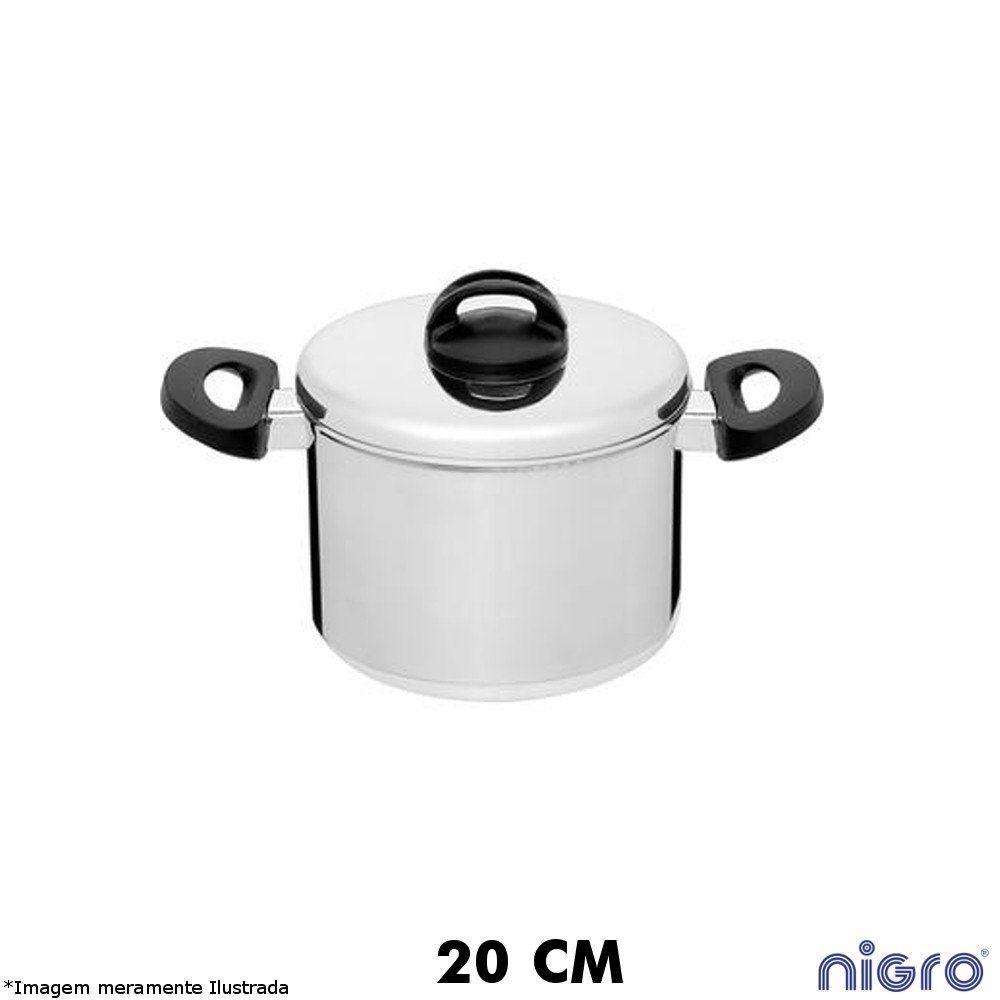 Caldeirão Alumínio Polido 20 cm Eterna - Nigro