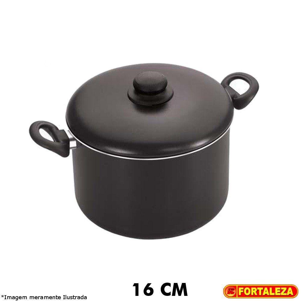 Caldeirão Teflon Black 16 cm - Fortaleza