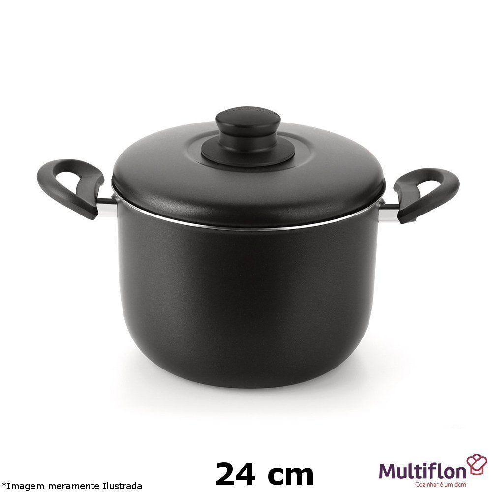 Caldeirão Teflon Gourmet Vapore 24 cm - Multiflon