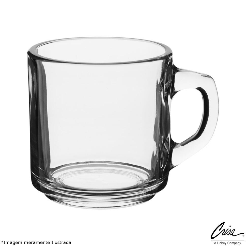 Caneca Vidro Transparente 320 ml Coffee Mug - Crisa Glassware