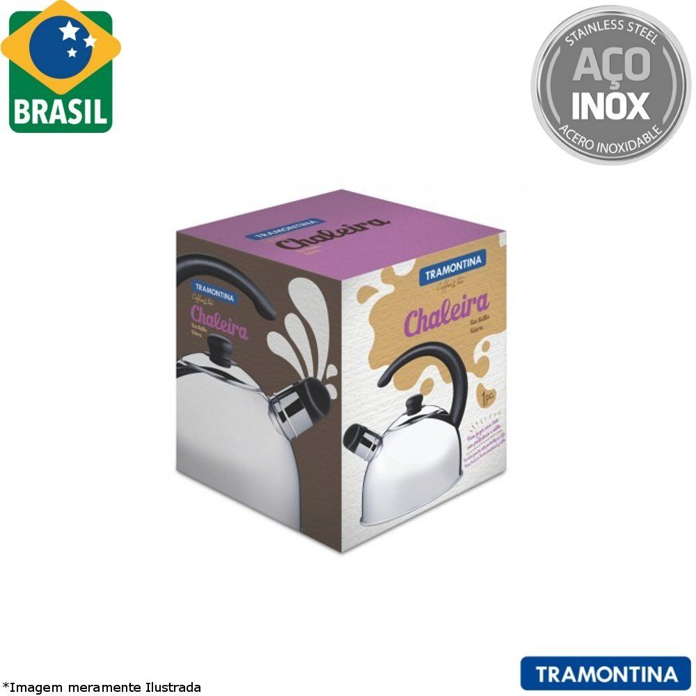 Chaleira Inox C/ Apito 2 L - Tramontina