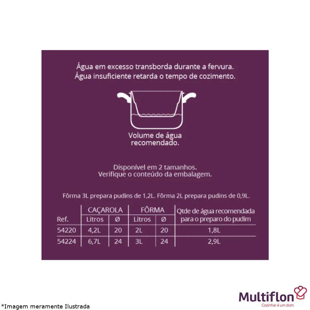 Conjunto Banho-Maria 24 cm Antiaderente 2 Peças - Multiflon