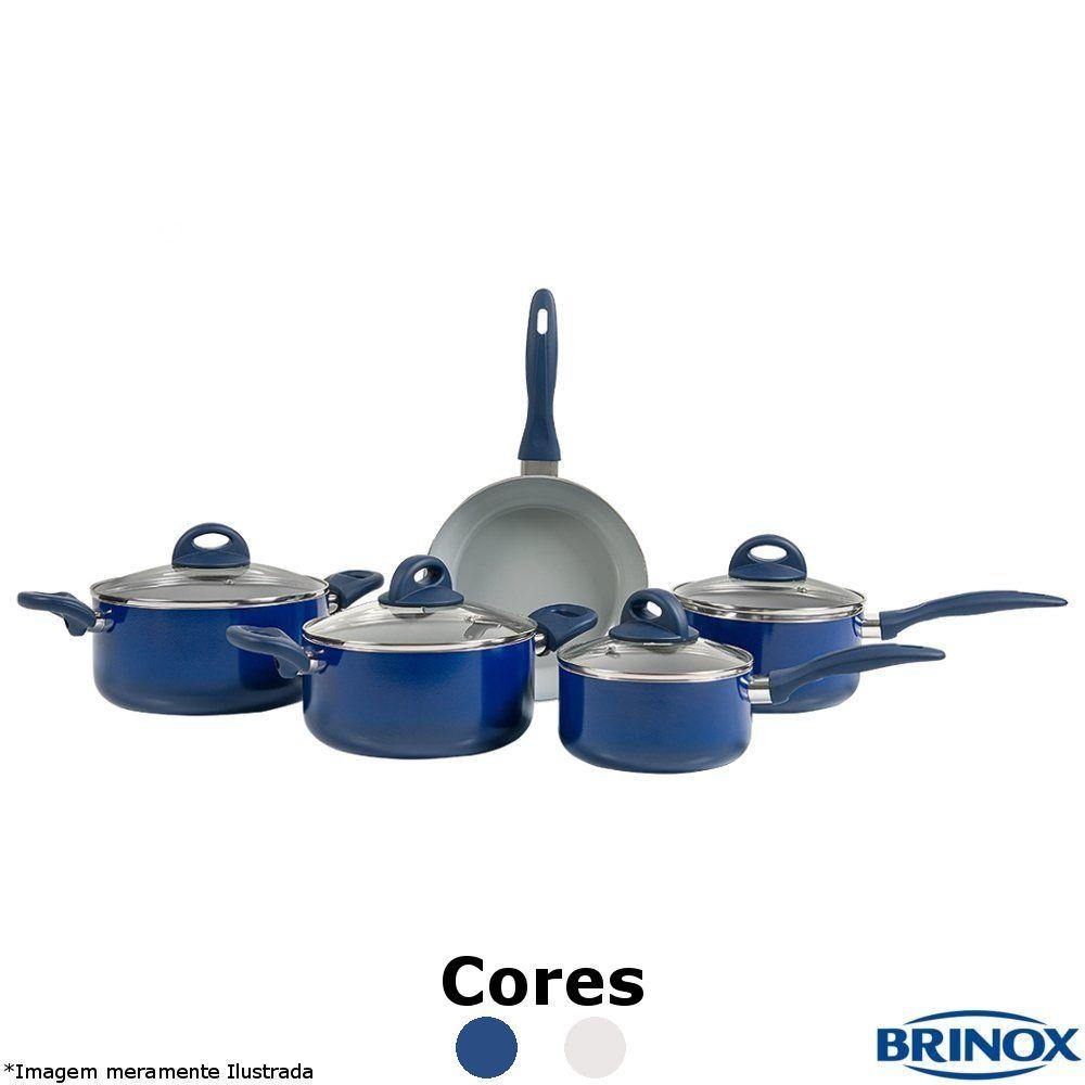 Conjunto Ceramic Life 5 Peças 2.5- Brinox