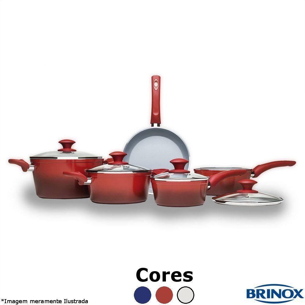 Conjunto Ceramic Life 5 Peças 4.5 - Brinox