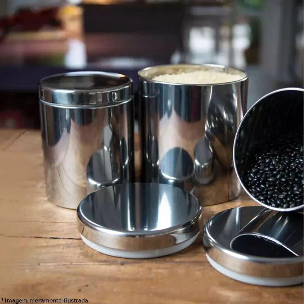 Conjunto Potes de Mantimento Inox 5 Peças - Brinox