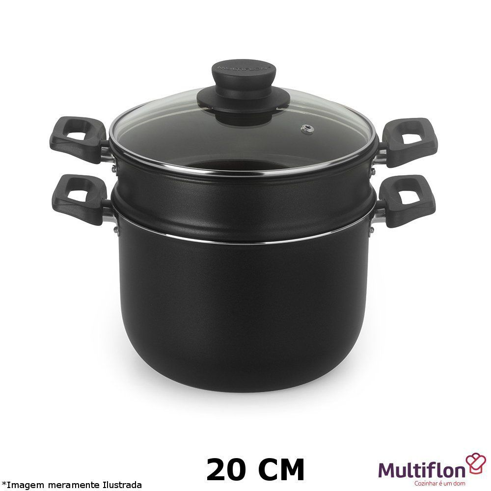 Cozi Vapor / Cuscuzeira Antiaderente 20 cm - Multiflon
