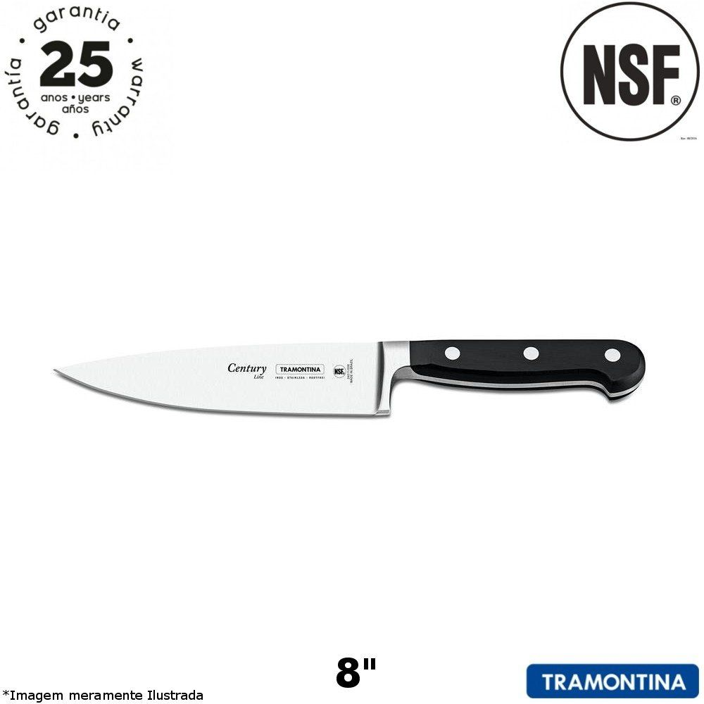 "Faca Chef 8"" Century - Tramontina"