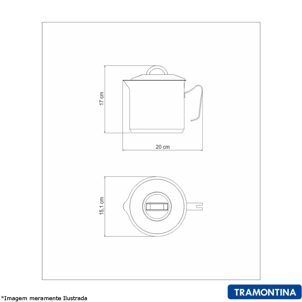 Fervedor com Tampa Inox Solar 14 cm - Tramontina