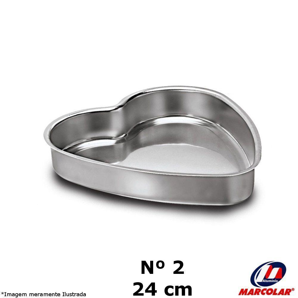 Forma Coração Nº 2 Alumínio - Marcolar
