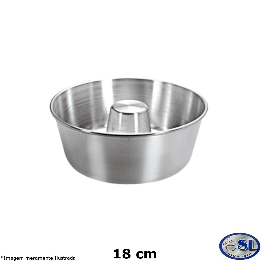 Forma de Pudim Alumínio Polido 18 cm