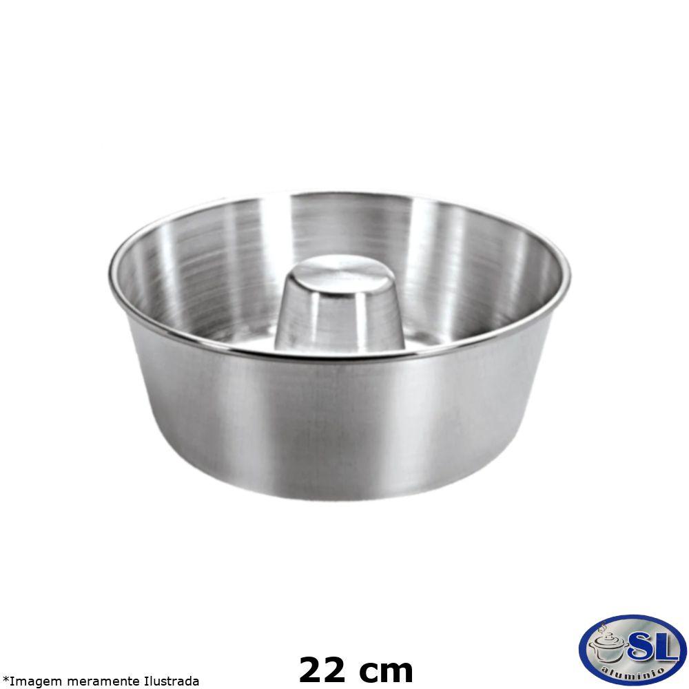 Forma de Pudim Alumínio Polido 22 cm