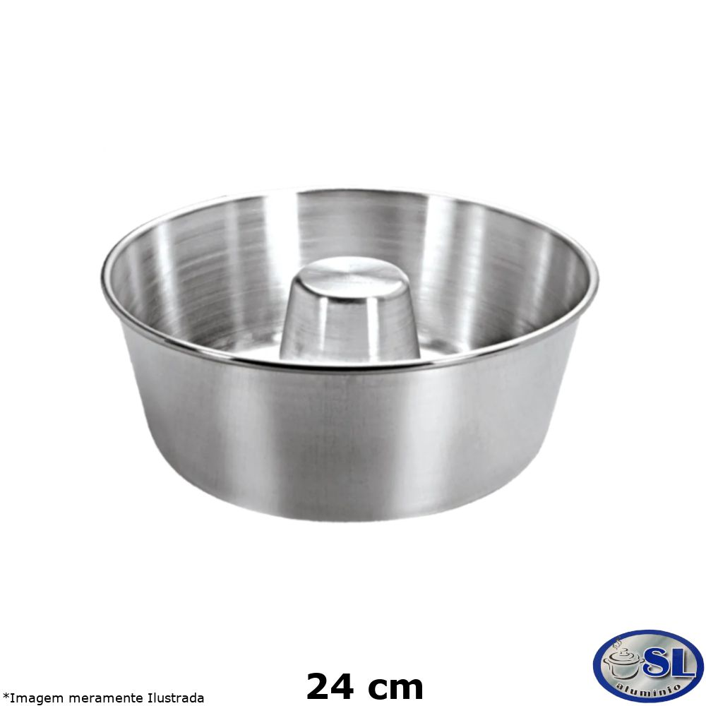 Forma de Pudim Alumínio Polido 24 cm