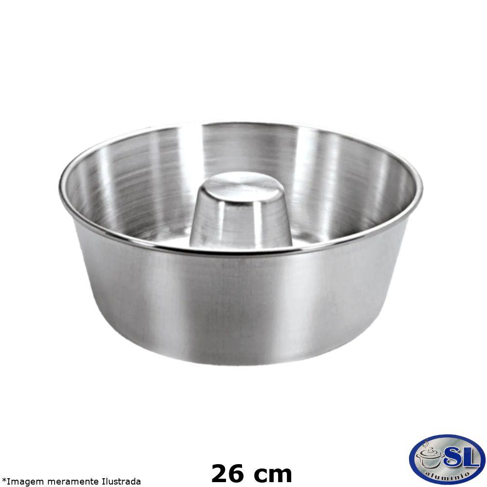 Forma de Pudim Alumínio Polido 26 cm