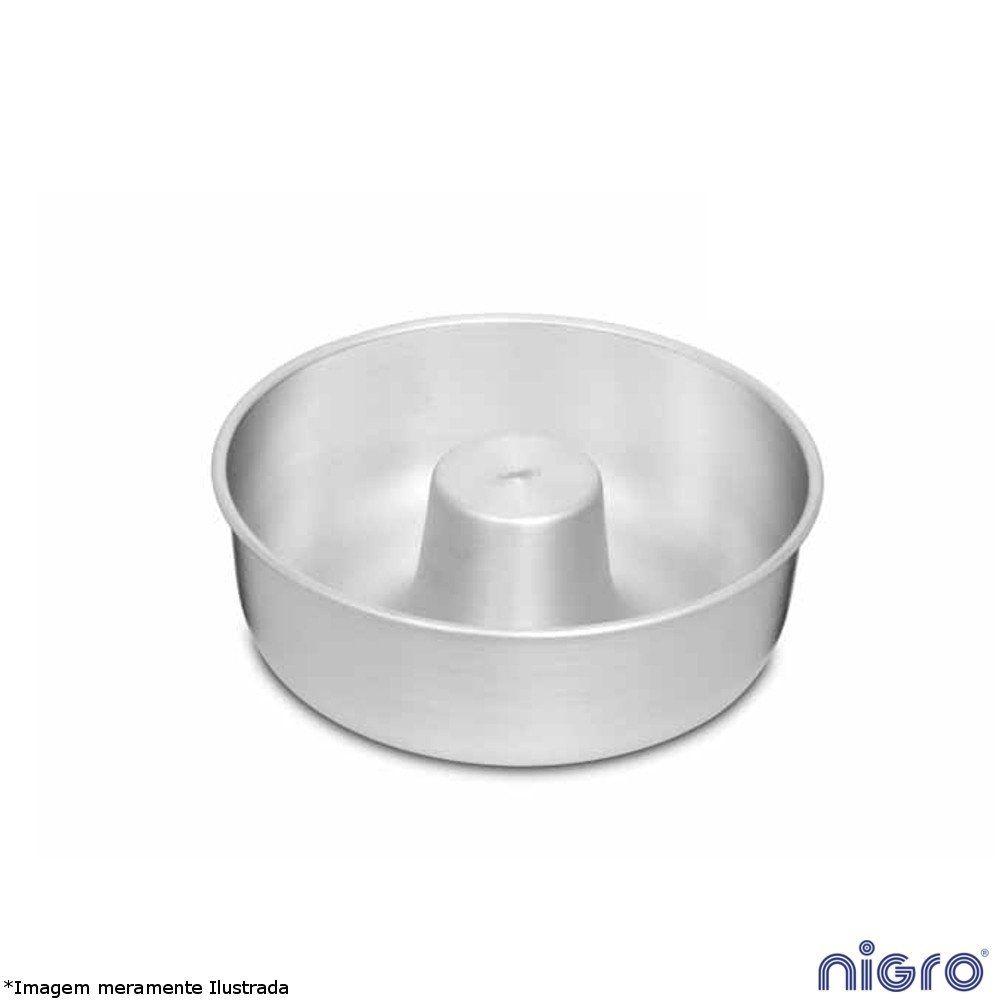 Forma Bolo Redonda Alumínio com Tubo 24 cm - Nigro