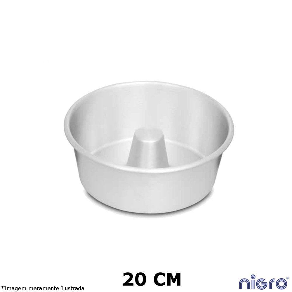 Forma Redonda Alumínio com Tubo 20 cm - Nigro