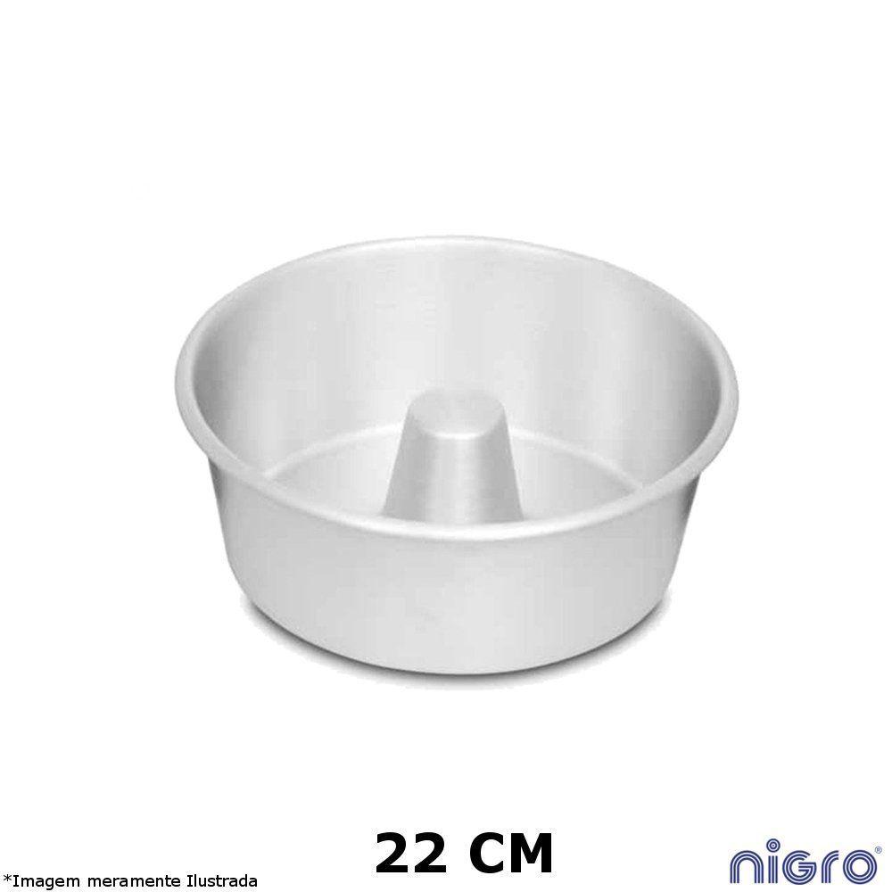 Forma Redonda Alumínio com Tubo 22 cm - Nigro