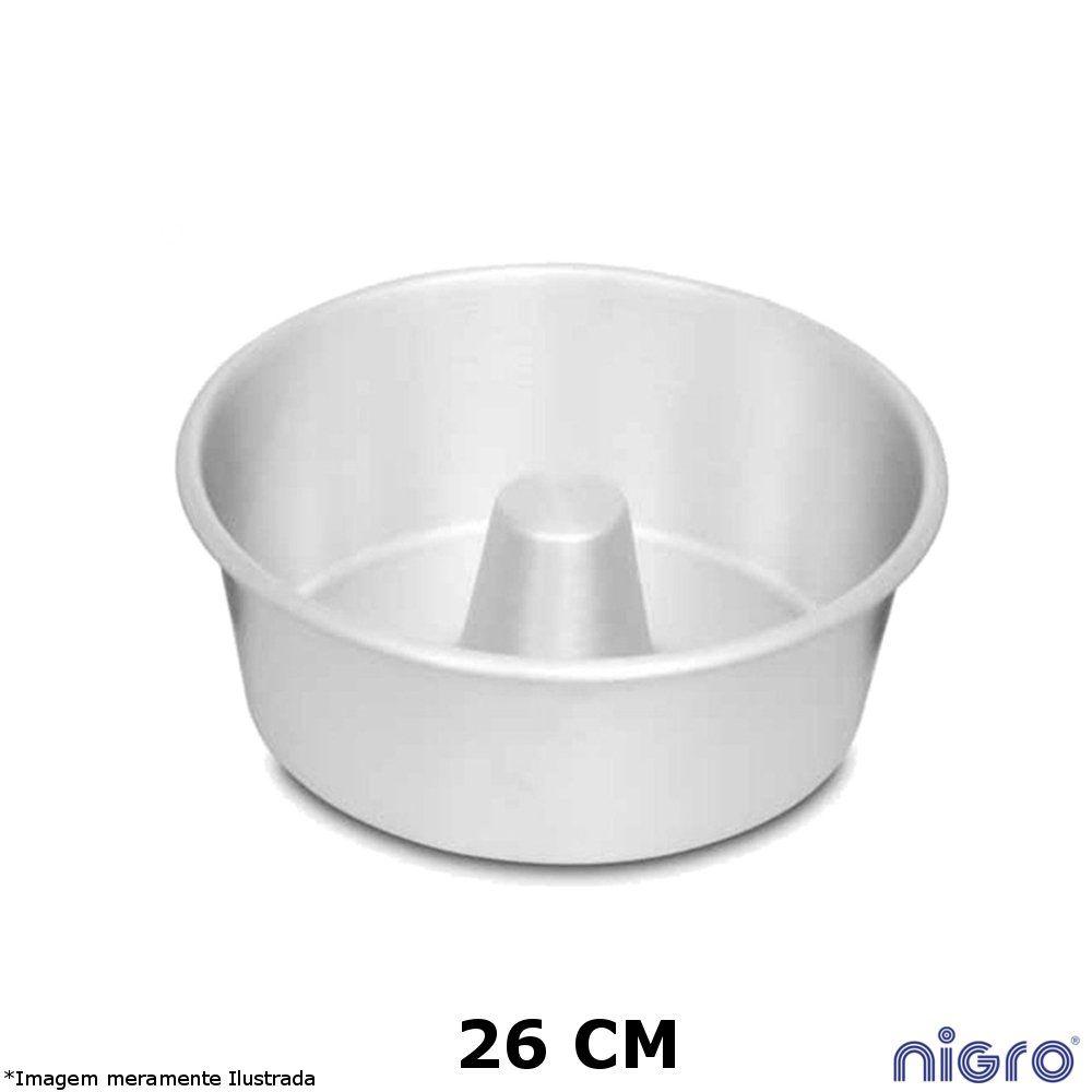 Forma Redonda Alumínio com Tubo 26 cm - Nigro
