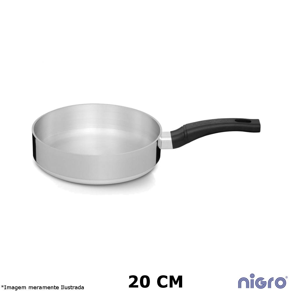 Frigideira Alumínio Polido Eterna 20 cm - Nigro