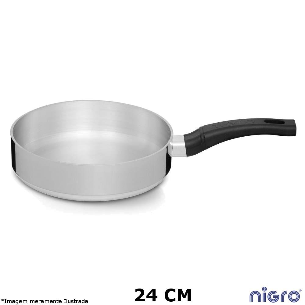 Frigideira Alumínio Polido Eterna 24 cm - Nigro