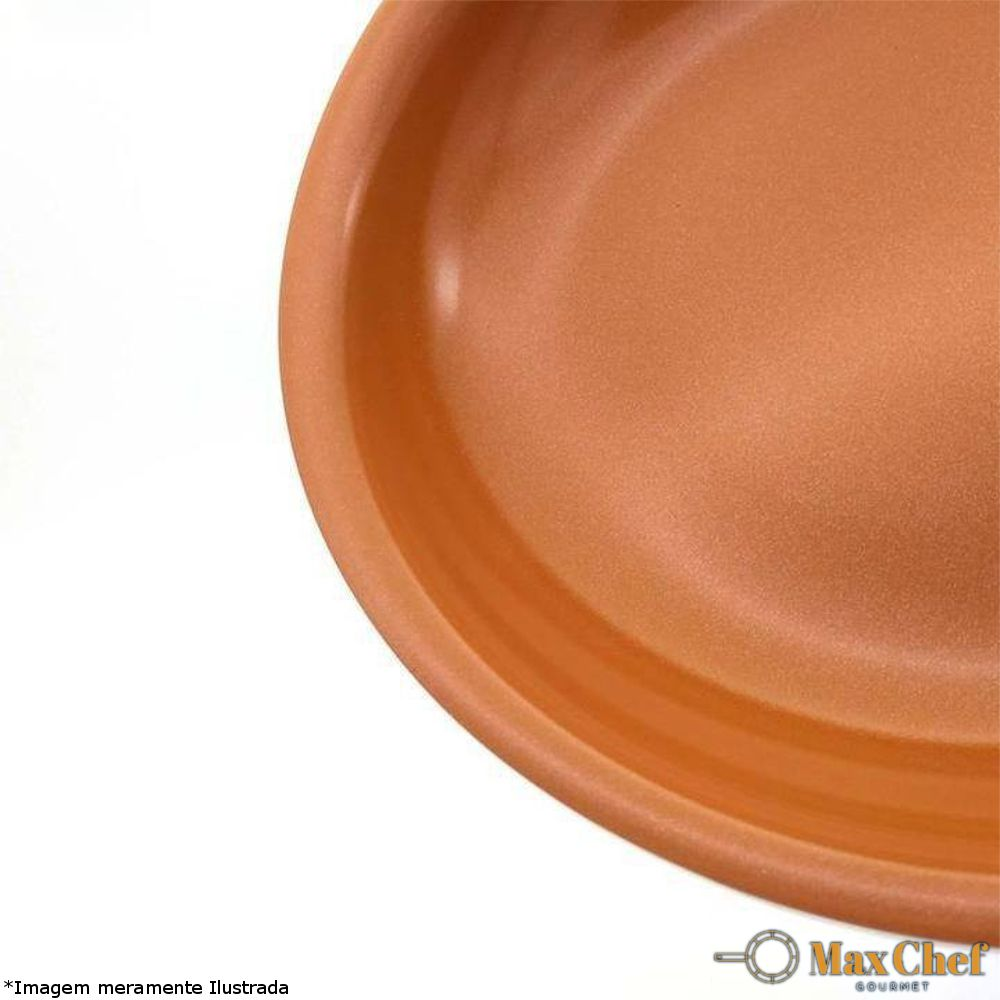 Frigideira Antiaderente 24 cm Cerâmica e Cobre/Titânio - MaxChef