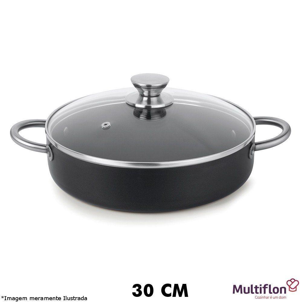 Frigideira Tegame Profissional 30 cm Teflon - Multiflon