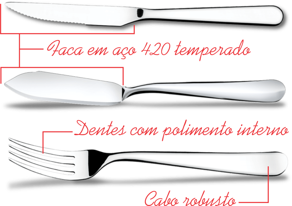 Garfo Peixe Linha Gourmet - Brinox