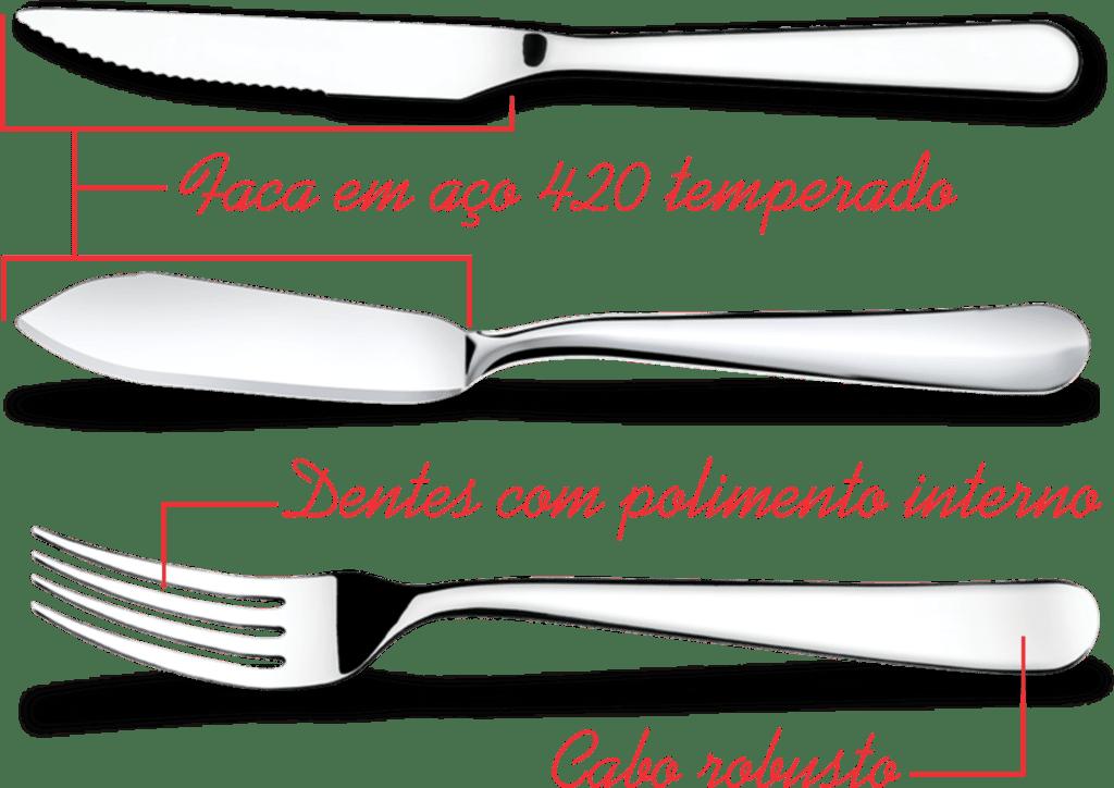 Garfo sobremesa Linha Gourmet - Brinox